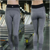 Wholesale Womens Compression Pants - Sexy Grey Black Red Runnings Sport Fitness Tights White Compression Power Flex Yoga Pants Leggings Sexy Butt Lift Sports Trousers Womens