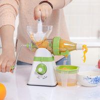 Wholesale Vegetable Juice Machine - Manual Juicer Multifuctional Kids Fruit Juicer Hand Crank Single Auger Juicer Fruit Vegetable Juice Machine Household Kitchen Tools