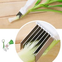 Wholesale green cutter vegetable - Creation Vegetable Shredder Cutter Green Onion Slicer Easy Handle Knife Tool Multi Chopper Sharp Scallion Gadgets Tools In Stock WX-C40