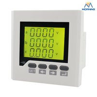 Wholesale Industrial Lcd Panels - 3D7Y panel size 80*80 low price three phase ac lcd communication rs485 digital multifunction meter, for industrial usage