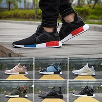Wholesale Youth Women Volleyball - 2017 New NMD Runner Primeknit XR1 Fall Olive Green All Black Fashion Sneakers Men Women Youth Sports NMD XR1 Running Shoes Size 36-44