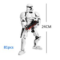 Wholesale Space Model Toys - Star Space War First order Stormtrooper Building Blocks Buildable Figure Toy Assembly Action Figure Model 3D Model Collection Gift