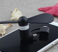 mão, segurando, telefone venda por atacado-Portátil 3 2 em 1 Mini Ventilador do Ventilador do Telefone Móvel de Celular Micro USB Ventilador Do Telefone Móvel Cool Cooler para Android PC Tipo C Universal celular ventilador