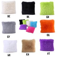 Wholesale Knitted Cushion Cover For Beds - Pillow Covers for Car Sofa Cushion Cases Women Bedding Plush Fashion Decoration Pure Color Best Wholesale