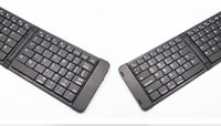 Wholesale Thin Bluetooth Keyboard For Phone - folding Wireless bluetooth Thin and light keyboard for IOS Android phone tablet universal for Free Shipping