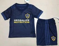 Wholesale Free Uniform Fan - top quality 2017-18 Los Angeles Galaxy away uniform Customized soccer jerseys mens adult kits fans jersey mixed order free shipping