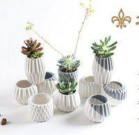 Wholesale Ceramics Home Decoration - 2017 Ceramic Vases Flowerpot Tabletop Vase Flower Pots Home Decorations for Wedding Party Office Creative Decorations Hot Sale