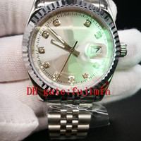 Wholesale Watch Case 36mm - Ladies Luxury rolis brand watches mechanical movement 36mm size brand sapphire glass silver case stainless steel bracelet aaa watch 000