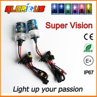 Wholesale Xenon H7 One - Car Lights eadlight Bulbs One pair 55W Xenon ID Bulb eadlight Lamp Auto Car 1 3 H7 H8 H9 H10 H11