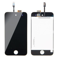 Wholesale Low Cost Capacitive Touch Screen - New Black White LCD Touch Digitizer Screen Assembly for iPod Touch 4 4th 4g Gen Generation free shipping low cost