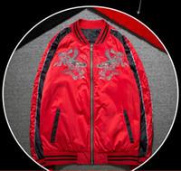 Wholesale Dragon Totem - 2017 free shipping new wind dragon totem Harajuku coat Yokosuka embroidery jacket male pilots baseball uniform MA1 Jacket military style
