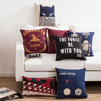 Wholesale Gold Classic Weave - Classic movie posters Batman Harry Potter Pirates of the Caribbean The Star Wars Lord of the Rings decorative throw pillow for sofa cushions