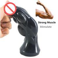 Wholesale Anus Penis - Big Dildo Large Anal Plug Convex Design Artificial Penis Extra Stimulate Erotic Sex Toys Stuffed Stopper Anus Massage Sex Shop #Q188