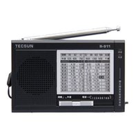 Compra Ricevitore Mondiale-All'ingrosso-TECSUN FM / AM / SW 11 bande Multi Band Radio Campus Broadcast Radio Receiver World-banda altoparlante incorporato TECSUN R-911