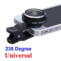 Wholesale Detachable Lens - Universal Detachable Clip 235 Degree Fish Eye Lens For Mobile Cell Phone iPhone