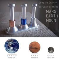 juguetes para adultos ciencia al por mayor-MOONDROP Fidget Desk Toy Visualización de gravedad en Luna Tierra Marte Mano Spinner DE Science Kids Juguetes para adultos VENTA CALIENTE envío rápido