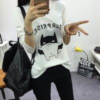 Wholesale Wholesale Women Cartoon Sweater - Wholesale-2016 women knitted winter autumn suprise pullover sweater camisa feminina pull femme vetement jersey letter cartoon cute jump