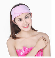 Wholesale Face Hair Band - Wholesale- New Spa Bath Shower Make Up Wash Face Cosmetic Headband Hair Band