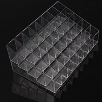 Wholesale Clear Makeup Case Organizer - 40 Trapezoid Clear Makeup Display Lipstick Stand Case Cosmetic Organizer Holder Hot sale High Quality BZ678406