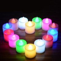 Led Flameless Color Changing Flicker Tealight Candles Battery Operated per la festa di compleanno di nozze Home Natale
