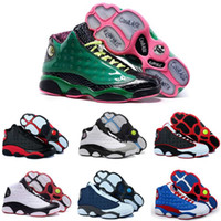 Wholesale Cheap Men Name Brand Sneakers - [With Box]Free shipping Cheap New Air Retro 13 Basketball Shoes Mens Sneakers Brand Name Men Retro 13s Black Blue White Sports Shoes US 8-13