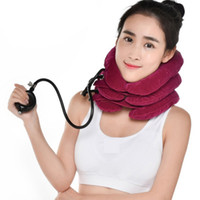 Wholesale Cervical Air Neck Traction - Neck Massager Air Cervical Neck Traction Soft Brace Device Head Back Shoulder Neck Pain Health Care