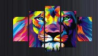 Ink spray king - Unframed Panels Modern Animal Lion king Oil painting on canvas wall decoration Home wall art picture Print on canvas