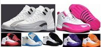 2017 Retro Retro 12 XII Basketball Shoes Kids 12s TAXI Playoff ovo Branco Cinzento Preto Gym barons cereja RED Flu Game Sneakers Boot Size 36-40