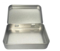 ingrosso casella di caramella semplice-Scatola di latta piccola scatola di latta quadrata scatola di regalo d'argento di stagno che sigilla scatole di caramella di nozze di latta pianura