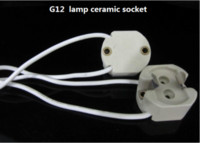 Wholesale Cdm Wholesalers - 20pcs G12 lamp holder Led socket adapter ceramic halogen Bulb base Converter Metal Halide adapter CDM-T HQI MBI socket 70 150W