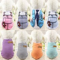 Wholesale Teddy Dog Dress - 2017 Pet dog apparel T Shirt shirts Dress Vest Summer Spring large dog clothes Pet Dogs Outfits Vest Rompers Teddy Clothes