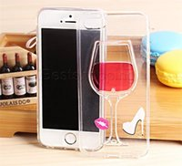Wholesale Girly Iphone Covers - Dynamic Liquid Luxury Glitter Wine Flowing Clear colorful Quicksand Case For Apple iphone i6 6s  6+ 6s+ Cute Girly Stylish Transparent Cover