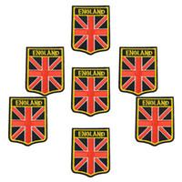 ingrosso cucire la bandiera-Inghilterra Badge bandiere FAI DA TE patch per abbigliamento ferro ricamato patch applique ferro sulle zone accessori per il cucito per vestiti borsa DZ-277