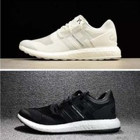 Wholesale High quality Y pure boost Primeknit ZG Kint Triple white black ultra Boost Running Shoes Y3 pureboost outrdoor shoes sports shoes sneaker