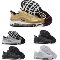 Calzado Casual De Marca Baratos-A estrenar Men Low Nike Air MAX  97 Cushion Breathable Casual Shoes El masaje barato que ejecuta las zapatillas planas Man 97 Sports Outdoor Shoes