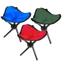 стул для табуретов оптовых-Wholesale- High Quality Folding Outdoor Camping Hiking Fishing Picnic Garden BBQ Stool Tripod Three feet Chair Seat Promotion