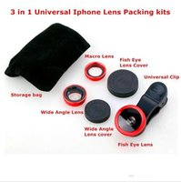 Wholesale factory price in Universal Clip Fish Eye Wide Angle Macro Phone Fisheye Lens For iPhone Samsung htc lg