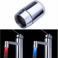 iluminação do chuveiro venda por atacado-Nova Brilho Shower Stream Torneira LED Faucet Cabeça de Água Com Adaptador Universal 7 Mudança de Cor
