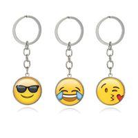 schlüsselketten für jungengesicht großhandel-Arbeiten Sie smiley-Gesichtsschlüsselkette Emoji Gefühl-Schlüsselringe für Jungen- und Mädchen-Weihnachtsgeschenk um Freies Verschiffen