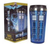 Wholesale Police Cup - Police Box Public Call Mug Doctor Who Tardis 16oz Travel Mugs Stainless Steel Cups High Temperature Resistance Tumbler Popuplar 16 5yo R