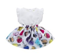 Wholesale Hot Sale Kids Summer - Girls Chiffon Tops+Bottle Print Skirt Outfits 2017 Summer Euro America Hot Sale Kids Boutique Clothing 2-6Y Little Girls Cap Sleeves Skirt