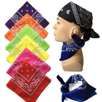 Wholesale Hot Head Scarf - hot sale 100% COTTON Paisley Bandana Double Side Head Wrap Scarf Wristband with DHL Free Shipping