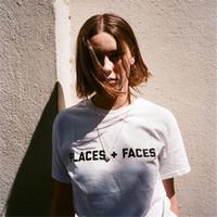 Wholesale Face T Shirt - Hot Sale Men And Women Places + Faces Box Logo T-SHIRT Hip Hop Short Sleeve Cotton T Shirts Street Skateboards Tees Shirt Free Shipping