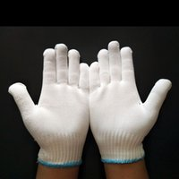 12 paires par lot 500G Sports Knit White Gardening Gants de travail de cuisine Windproof Winter Warm Wear