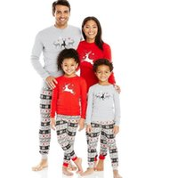 Wholesale Pajama Years - 2017 Family Matching christmas pajamas New Sleepwear Clothing Mother Daughter Clothes Father Son Mon Baby New Year Pajama Sets