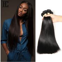 Wholesale Best Brazillian Hair Weave - Brazillian Peruvian Indian Malaysian Best Quality Brazilian Virgin Hair Straight Brazilian Hair Weave Bundles Full Head Rosa Brazilian Hair