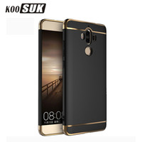 Wholesale Huawei Ascend Mate Phone Cases - KOOSUK Huawei Ascend mate 7 8 10 9 Pro Phone Protector Case Back cover 3 in 1 Slim Gold plated PC Hard Shell