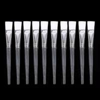 Wholesale Metal Brushes - Wholesale 10Pcs lot DIY Face Facial Mud Mask Mixing Mix Brush Skin Care Beauty Makeup Tool