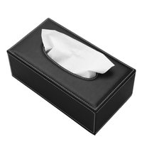 Wholesale Tissue Boxes For Cars - Rectangular Leather Facial Tissue Box Napkin Holder for Home Office, Car Paper Facial Tissues Decoration