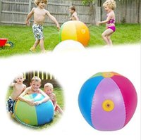 Wholesale Favorite Plays - Inflatable Water Spray Ball Outdoor Fun Hot Toys Swimming Party Favors Children Summer Favorite Water Playing Inflated Toy Balls 60cm 75cm